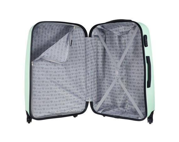Mała walizka kabinowa 55x35x22cm ABS STL856 miętowa