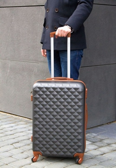 Mała walizka kabinowa S stl190 beżowa