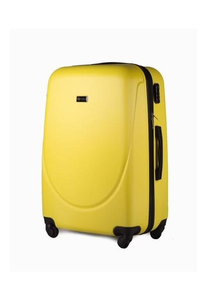 Mała walizka podróżna na kółkach (bagaż podręczny) SOLIER STL310 S ABS zółta