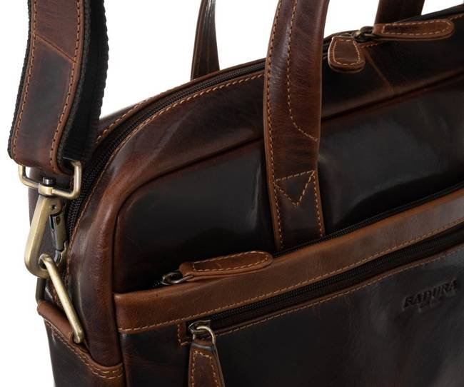 Męska torba na laptopa koniak Badura LAP-2680-B-COM COGNA