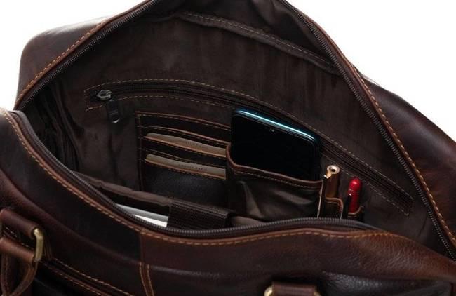 Męska torba na laptopa koniak Badura LAP-5682-B-COM COGNA