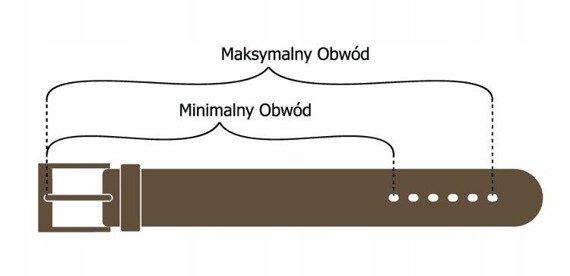 Pasek damski skórzany Rovicky PDR-1,5 brązowy