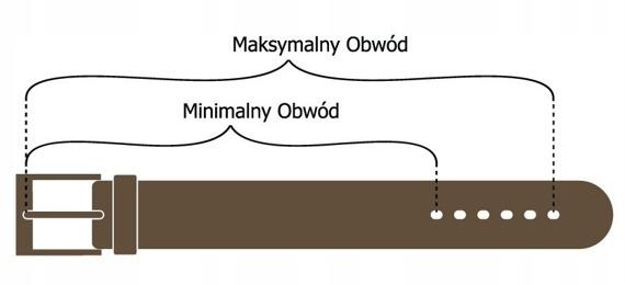 Pasek męski Rovicky PWN-01-SO 110cm czarny