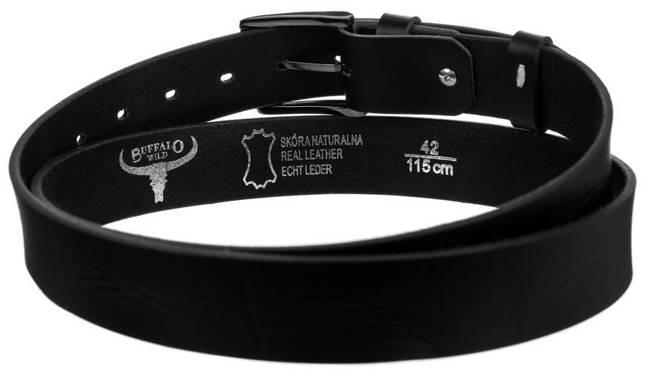 Pasek męski czarny Buffalo Wild PWB-01-GG