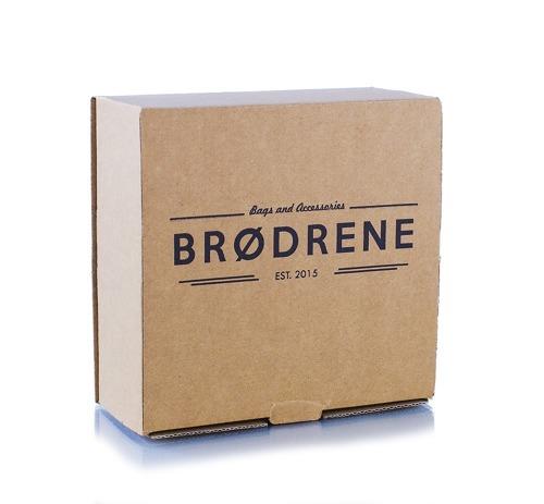 Pasek męski do spodni parciany Brodrene P09 brązowo-biały