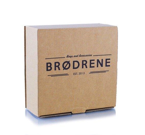 Pasek męski skórzany Brodrene LIC30 brązowy