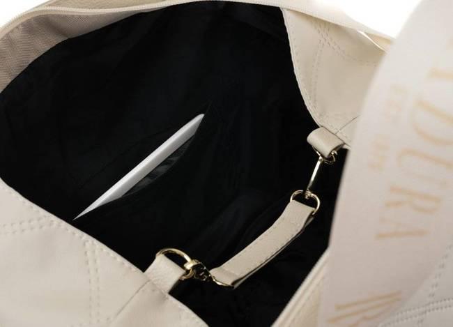 Pikowana shopperka beżowa Badura T_D227PIK_BE_CD