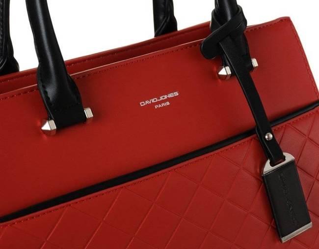 Pikowany czerwony kuferek David Jones 6516-3 RED