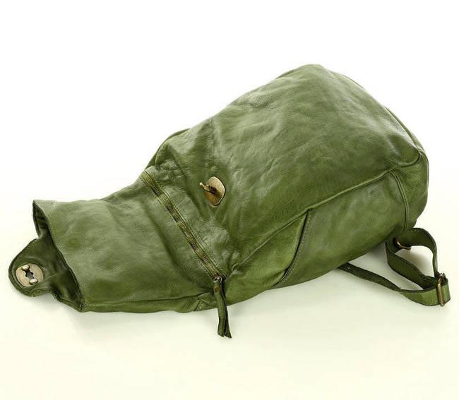 Plecak damski MARCO MAZZINI zielony v71e
