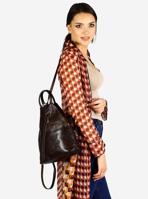 Plecak damski brązowy MARCO MAZZINI Pl2c