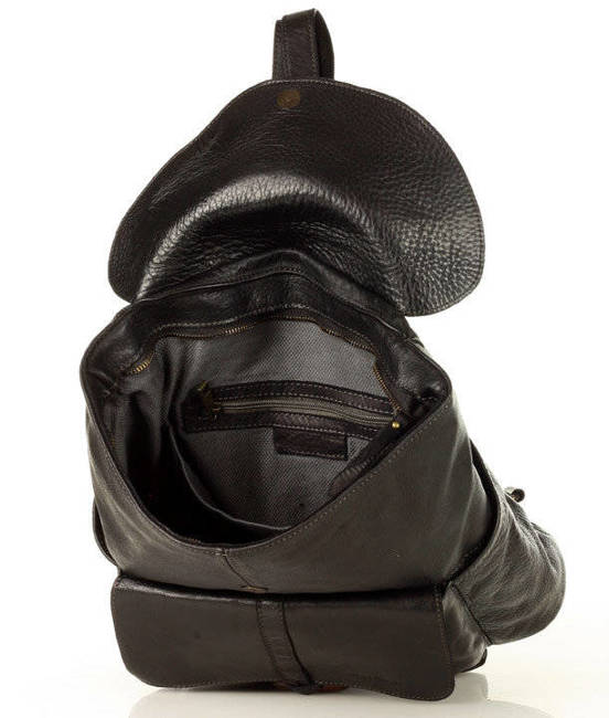 Plecak damski czarny MARCO MAZZINI V159a