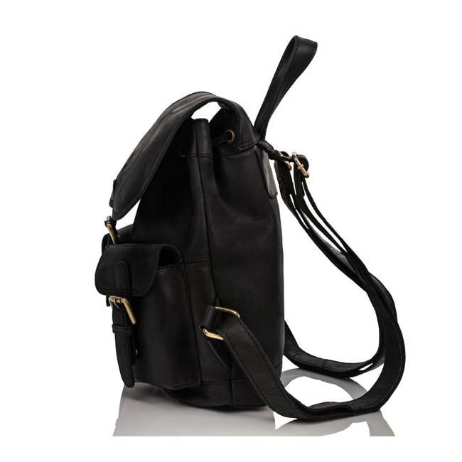 Plecak damski czarny PAOLO PERUZZI T-16-BL
