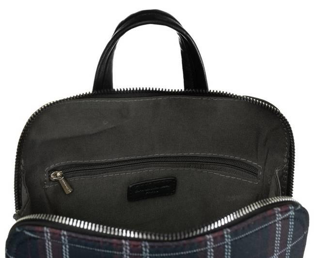 Plecak damski czarny krata David Jones 6622-2 BLACK