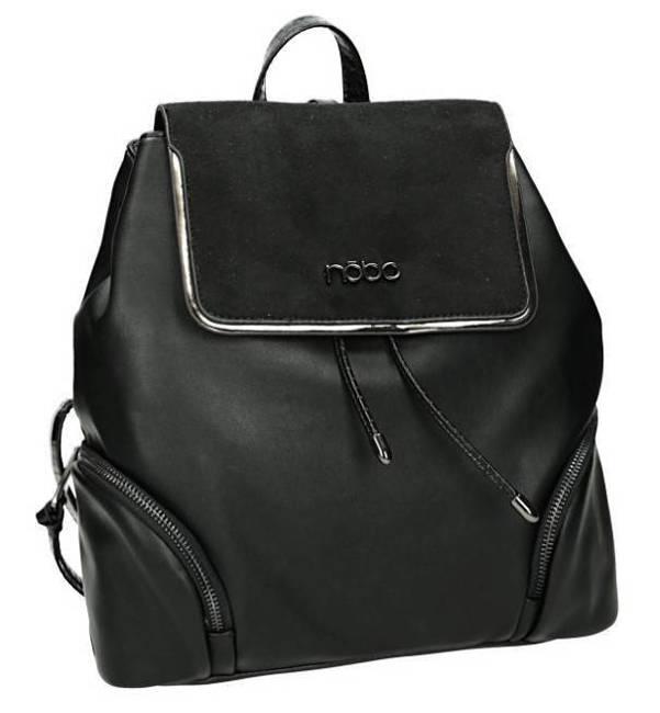 Plecak damski elegancki eko Nobo czarny J0250