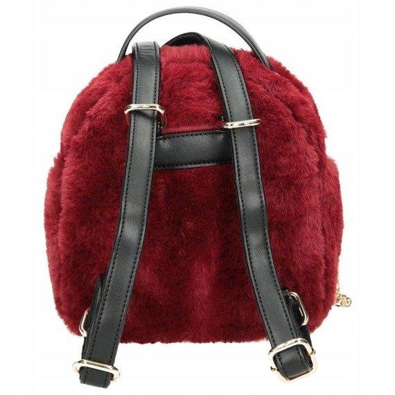 Plecak damski futrzany torebka 2w1 NOBO bordowy