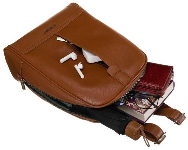 Plecak damski koniakowy David Jones CM6014 COGNAC