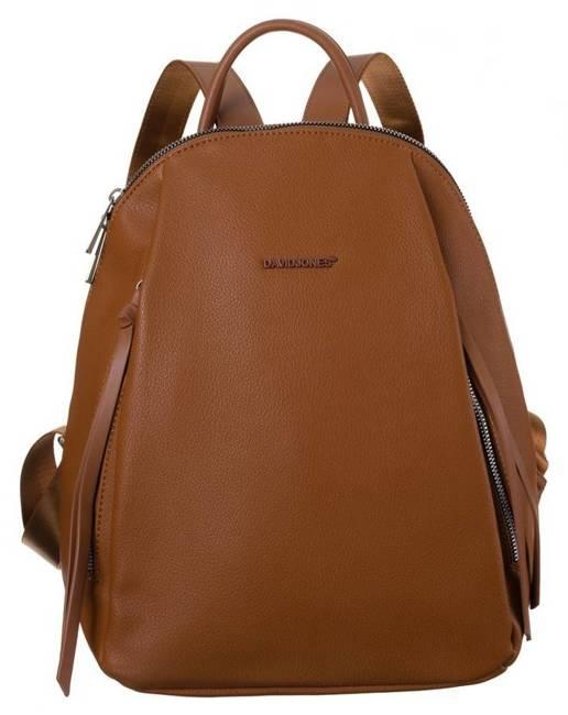 Plecak damski koniakowy David Jones CM6026 COGNAC