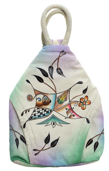 Plecak damski skórzany ręcznie malowany