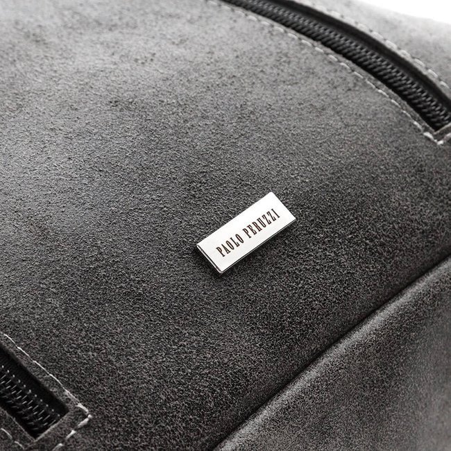 Plecak damski skórzany vintage szary Paolo Peruzzi X-06