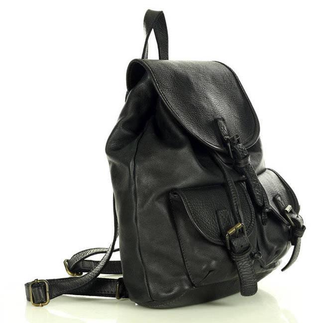 Plecak damski vintage MARCO MAZZINI czarny v180a