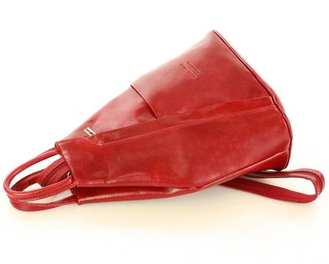 Plecak damski wiśniowy MARCO MAZZINI  Pl2d