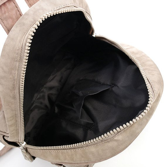 Plecak damski z materiału - kodury beżowy GA67