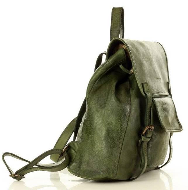Plecak damski zielony MARCO MAZZINI v131b