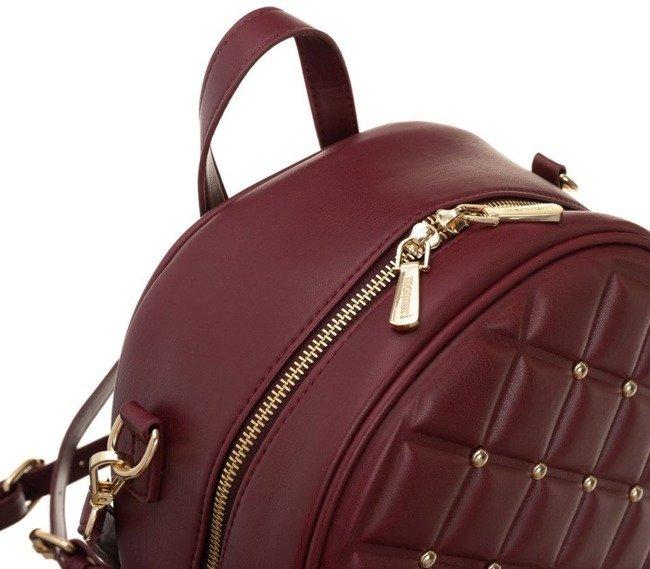 Plecak pikowany z nitami torebka 2w1 Monnari bordo 3890
