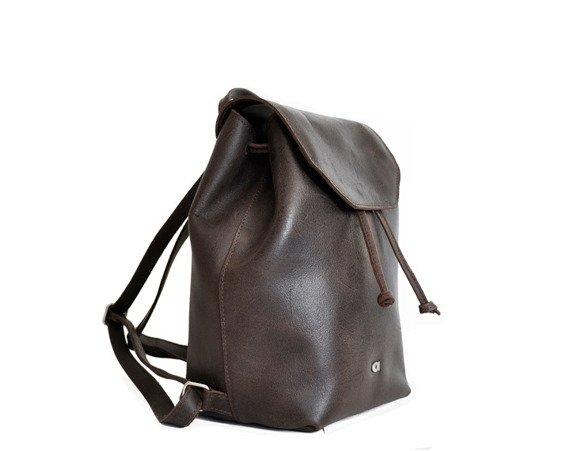 Plecak skórzany DAAG FUNKY GO! 26 ciemnobrązowy