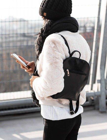 Plecak skórzany damski DAN-A T335 czarny
