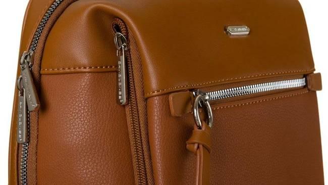 Plecak z kieszenią na tablet koniakowy David Jones CM6075 CONIAC