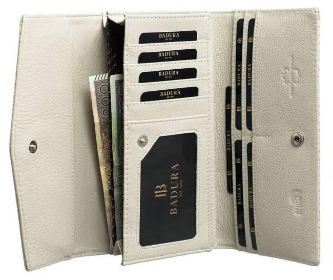 Podłużny portfel damski beżowy Badura B-43877P-SBR