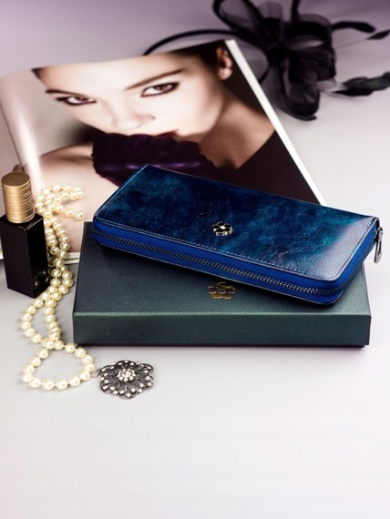 Pojemny portfel damski niebieski PX25-2