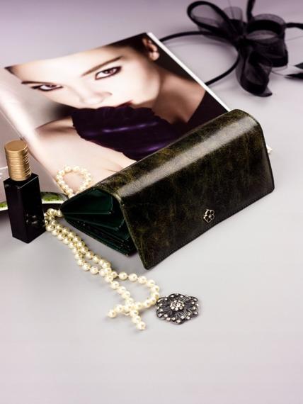 Pojemny portfel damski zielony PX24-2