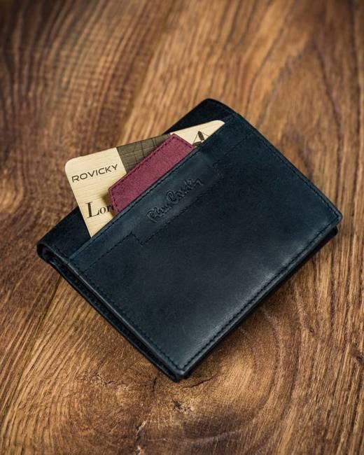 Portfel czarny z czerwoną wstawką Pierre Cardin 326 VO02