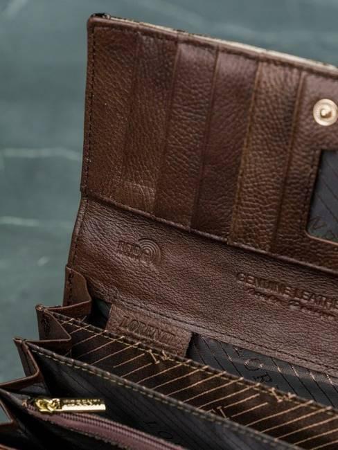 Portfel damski Lorenti brązowy 72031-PT BROWN