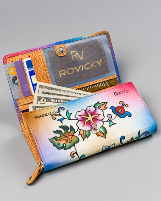 Portfel damski beżowy Rovicky R-N22-ART-14 TAN