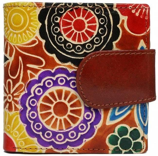 Portfel damski brązowy kwiaty SPG-98-SHANTI BROWN