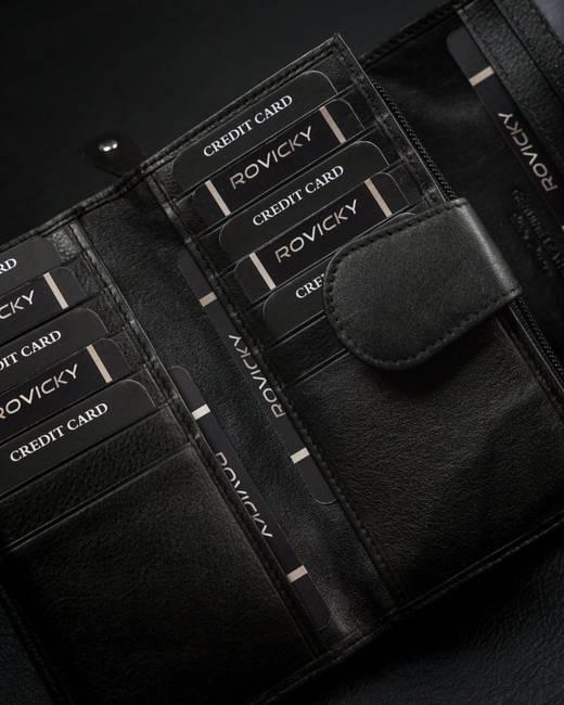 Portfel damski czarny 4U Cavaldi 55003-SPN-6293 BLACK