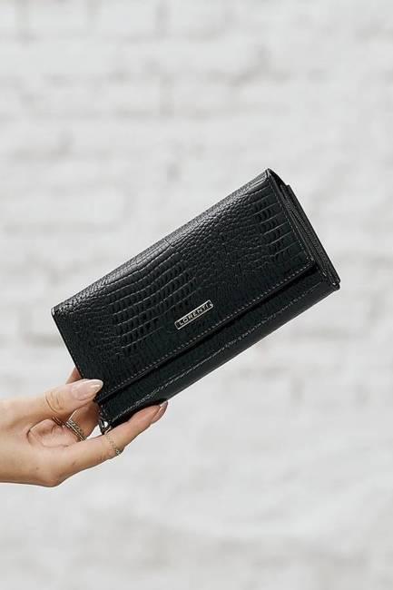 Portfel damski czarny LORENTI 76111-RS BLACK