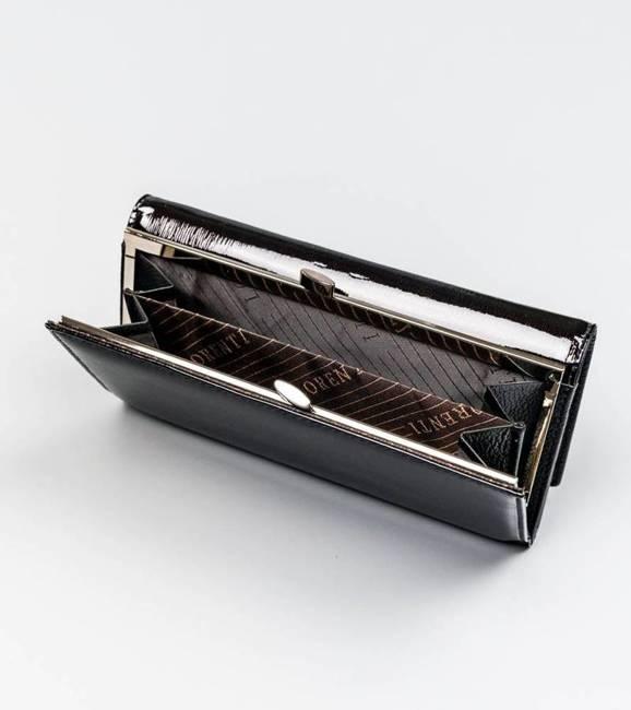 Portfel damski czarny Lorenti 72031-SH NAPIS BLACK
