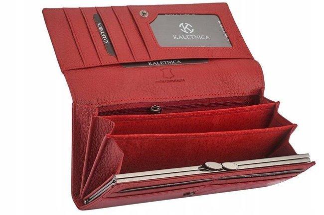 Portfel damski czerwony Kaletnica L-72401-NIC RED