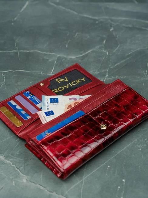 Portfel damski czerwony LORENTI 72031-PT RED