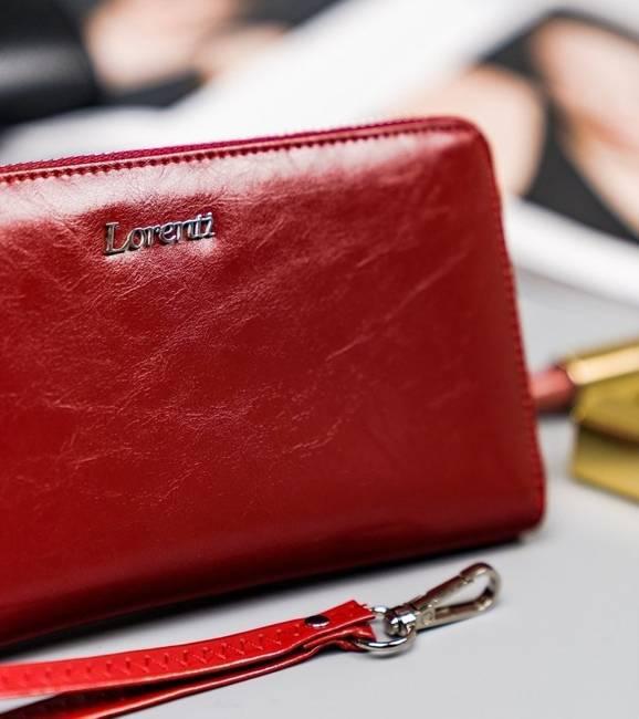 Portfel damski czerwony Lorenti 76119-BPR-1400 RED