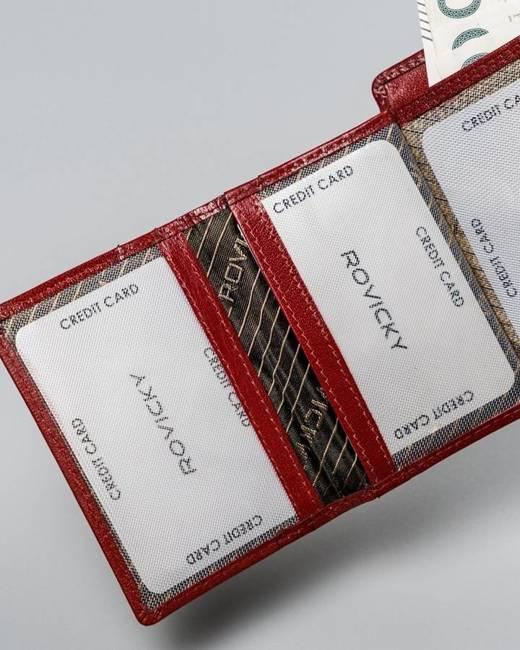 Portfel damski czerwony Rovicky CPR-013-BAR-6590 RED