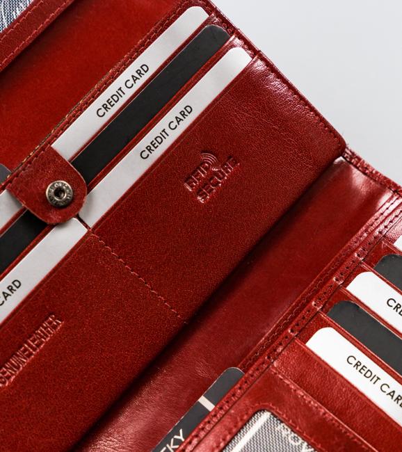 Portfel damski czerwony Rovicky CPR-8787-BAR-6842 RE