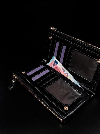 Portfel damski na zamek czarny Milano Design