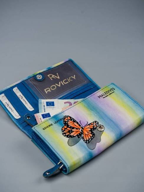 Portfel damski niebieski Rovicky R-N22-ART-02 BLUE