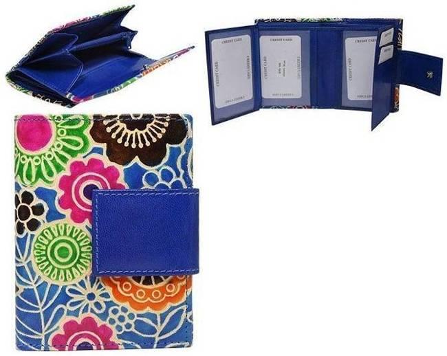 Portfel damski niebieski kwiaty SPG-100-SHANTI BLUE