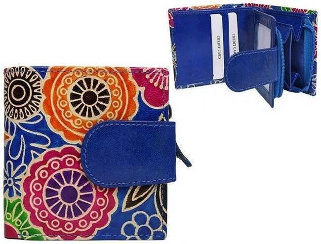 Portfel damski niebieski kwiaty SPG-98-SHANTI BLUE